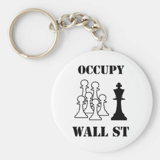 Occupy Wall St Basic Round Button Keychain