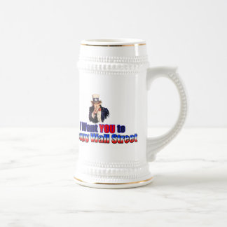 Occupy Wall Street 2011 18 Oz Beer Stein