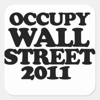 Occupy Wall Street 2011 Square Sticker