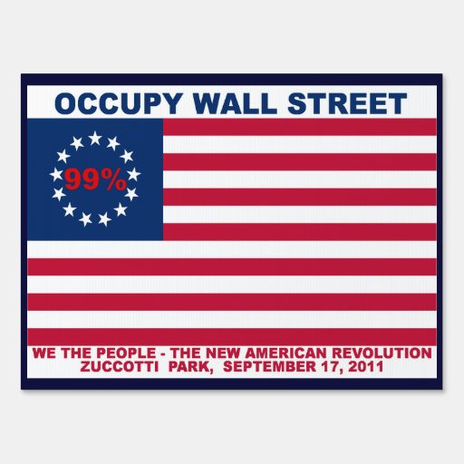 Occupy Wall Street 99% Flag Signs