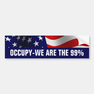 Occupy Wall Street 99 Percent Bumper Sticker
