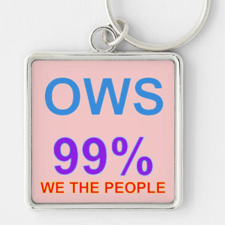 Occupy Wall Street 99% We the People Keychain