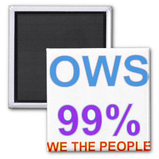 Occupy Wall Street 99% We the People Magnet