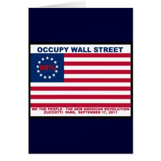 Occupy Wall Street 99% Zuccotti Park Greeting Card