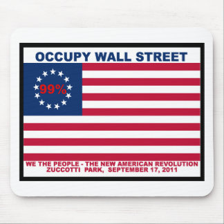 Occupy Wall Street 99% Zuccotti Park Mousepad