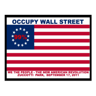 Occupy Wall Street 99% Zuccotti Park Postcard