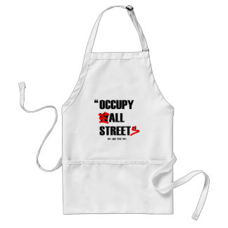 Occupy Wall Street All Streets We are the 99% Adult Apron