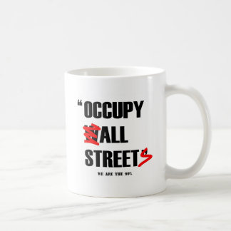 Occupy Wall Street All Streets We are the 99% Classic White Coffee Mug