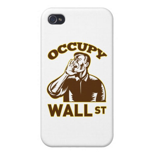 Occupy Wall Street America worker retro iPhone 4/4S Cover