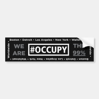 Occupy Wall Street and Worldwide Bumper Sticker