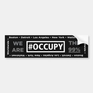 Occupy Wall Street and Worldwide Bumper Sticker Car Bumper Sticker