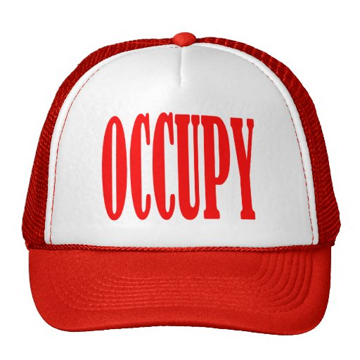 Occupy Wall Street Any Street Any Town Mesh Hats