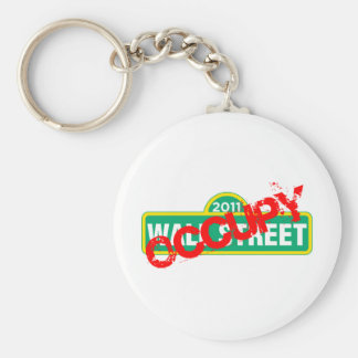 Occupy Wall Street Basic Round Button Keychain