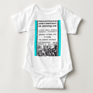 Occupy Wall Street Brooklyn Rally Flyer Baby Bodysuit