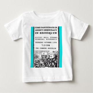 Occupy Wall Street Brooklyn Rally Flyer Baby T-Shirt
