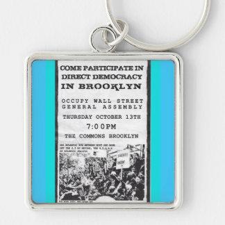 Occupy Wall Street Brooklyn Rally Flyer Keychain