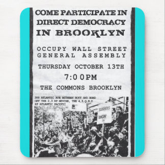 Occupy Wall Street Brooklyn Rally Flyer Mouse Pad