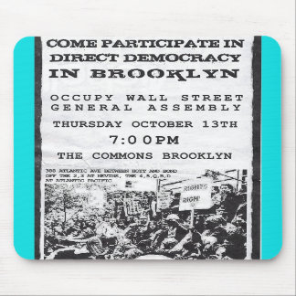 Occupy Wall Street Brooklyn Rally Flyer Mouse Pads