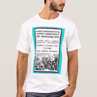 Occupy Wall Street Brooklyn Rally Flyer T-Shirt