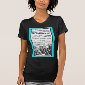 Occupy Wall Street Brooklyn Rally Flyer T Shirt