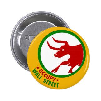Occupy Wall Street Bull Button