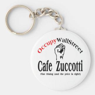 Occupy Wall Street - Cafe Zuccotti Basic Round Button Keychain