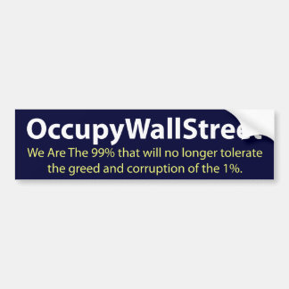 Occupy Wall Street Car Bumper Sticker
