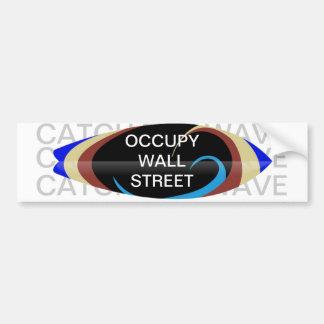 OCCUPY WALL STREET CATCH THE WAVE BUMPER STICKER