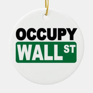 Occupy Wall Street Ceramic Ornament