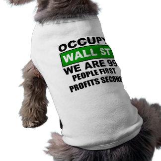 Occupy Wall Street Dog Tee Shirt