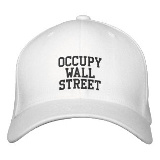 Occupy Wall Street Embroidered Baseball Cap