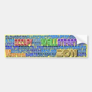 Occupy Wall Street FIGHT Greed Corruption Design Car Bumper Sticker
