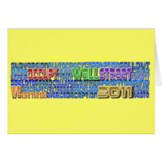 Occupy Wall Street FIGHT Greed Corruption Design Greeting Card