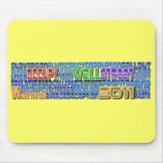 Occupy Wall Street FIGHT Greed Corruption Design Mouse Pad