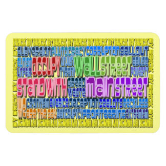 Occupy Wall Street FIGHT Greed Corruption Design Rectangular Photo Magnet