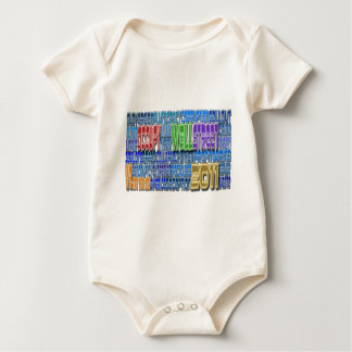 Occupy Wall Street FIGHT Greed TALL Design Baby Creeper