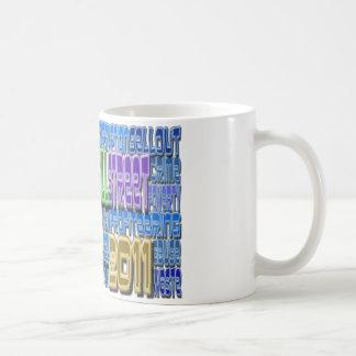 Occupy Wall Street FIGHT Greed TALL Design Classic White Coffee Mug