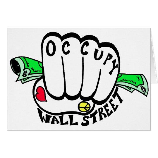 Occupy Wall Street Fist Card