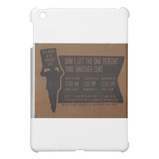 Occupy Wall Street Flyer-Take Times Square Brown iPad Mini Covers