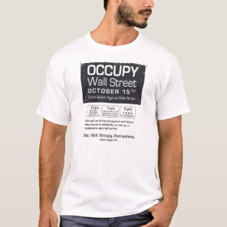 Occupy Wall Street Flyer-Take Times Square T-Shirt