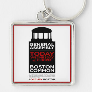 Occupy Wall Street General Assembly BOSTON Keychain