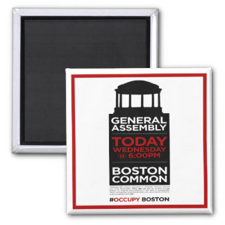 Occupy Wall Street General Assembly BOSTON Magnet