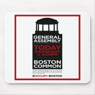 Occupy Wall Street General Assembly BOSTON Mouse Pad