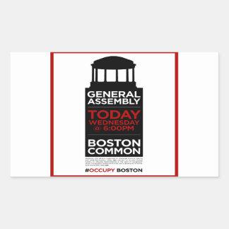 Occupy Wall Street General Assembly BOSTON Rectangular Sticker