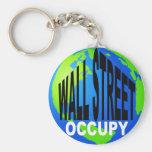 Occupy Wall Street Global Basic Round Button Keychain