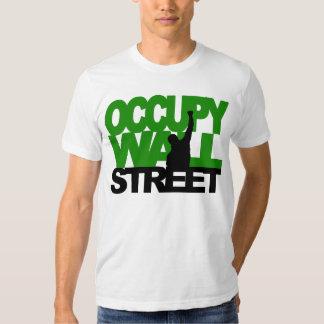 OCCUPY WALL STREET Green T Shirt