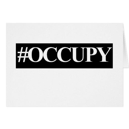 Occupy wall street hashtag card