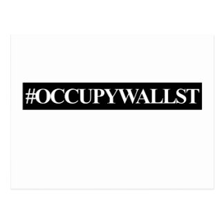 Occupy Wall Street Hashtag Postcard