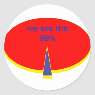 """""""occupy Wall Street incoming goods of acres the 99 Classic Round Sticker"""