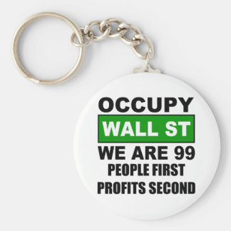 Occupy Wall Street Keychain